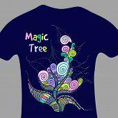Magic Tree - Vector Print For T-shirt