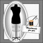 Handmade for you, Black Mannequin