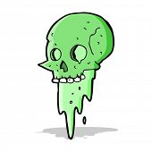 gross halloween skull cartoon