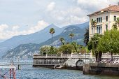 Promenade in Menaggio on Como lake, Italy