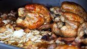 Fine served rotisserie chicken