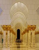 Interior Of Grand Mosque Abu Dhabi