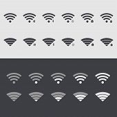 Vector modern wi fi set icons. Web element design