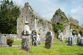 Celtic graveyard in Adare, Ireland