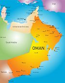 vector color map of Oman country