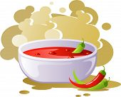 Spicy chili soup poster