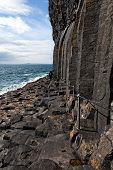 Basalt Columns By The Sea On The Isle Of Staffa, Scotland