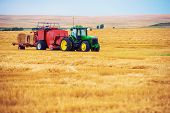 foto of tractor  - Summer Harvesting - JPG