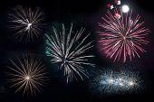 Isolated Firework Blasts
