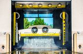 Running Touchless Carwash