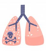 picture of respiratory disease  - A concept for lung cancer or lung disease - JPG