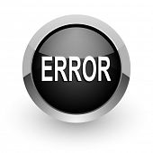 error black chrome glossy web icon