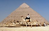 : Uniformed Tourist Police patrols the Pyramids