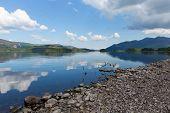 Derwent Water Lake District Cumbria England uk near Keswick