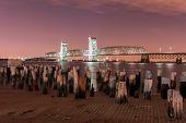 Marine Parkway-gil Hodges Memorial Bridge At Night