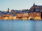 Stockholm at night.
