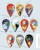 Shoppinh Map Pins