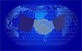 Blue Background-vector illustration