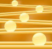 Golden glow light blur vector
