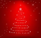 Abstract Christmas tree - vector