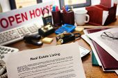 Real Estate Listing Contract On Realtor Desk