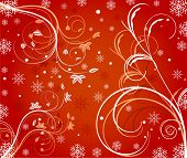 Abstract winter decor background vector illustration