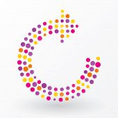 Refresh Symbol Composed Of Colorful Dots