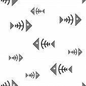 Seamless Background With Fish Bone;