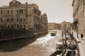 Canals Of Venice, Photography In Vintage Style.
