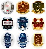 Decorative labels collection
