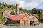 stock photo of ironworker  - old industrial ironworks at Blaenavon in Wales - JPG