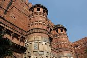 Agra Fort tower architectural detail