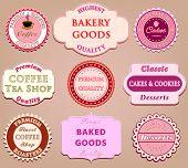 Set of coffee label design
