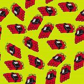 dynamite bomb seamless pattern cartoon illustration