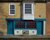 Old Butchers Shop fronted with decorative Tiles