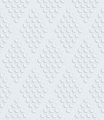 White perforated paper with cut out effect. See others in a Perforated Paper Set. Vector EPS10.