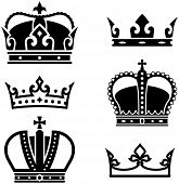 picture of queen crown  - Simple vector illustrations isolated on white background  - JPG
