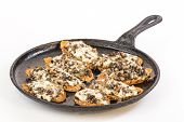 Baked Bruschetta In Flat Iron Skillet