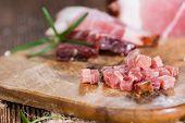 Portion Of Diced Ham