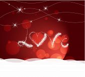 valentine day with love heart light Background