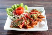 Shrimp with red curry and vegetable