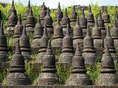 Detail Of The Koe-thaung Temple In Mrauk U, Myanmar