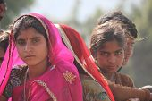 Beautiful Indian Girl At Pushkar Fair