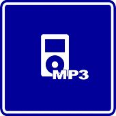 mp3 audio player sign