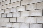 stock photo of arriere-plan  - the Square white brick wall as background - JPG