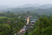 Tranquil Village In North Of Thailand.