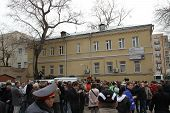 Near The Building Of The Tagansky Court To An Unauthorized Action There Were Supporters Of The Ver