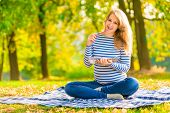 Portrait Expectant Mother Preparing For Childbirth