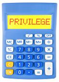 Calculator With Privilege