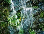 Small waterfall closeup in Nepal